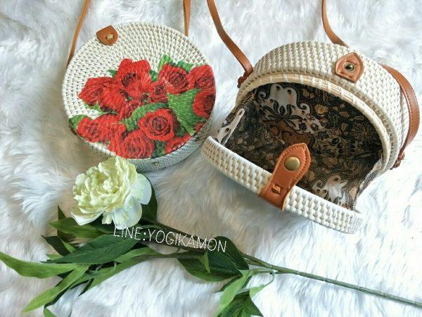 กระเป๋าบาหลี ลายเพ้นดอกไม้